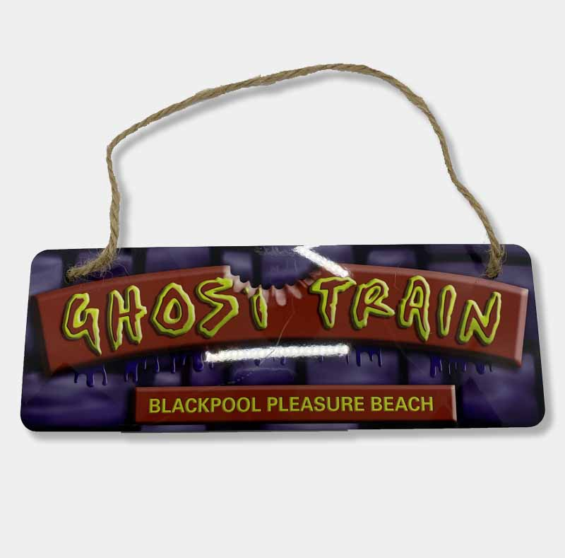 Ghost train sign