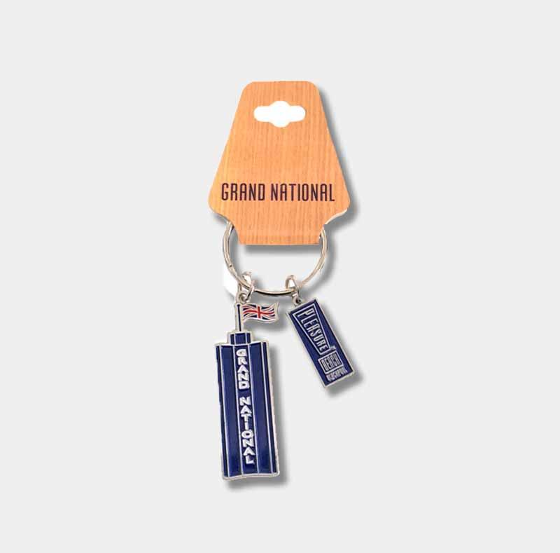 Grand national blue keyring