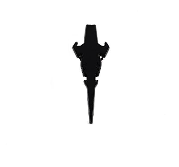 ICON pin badge black profile