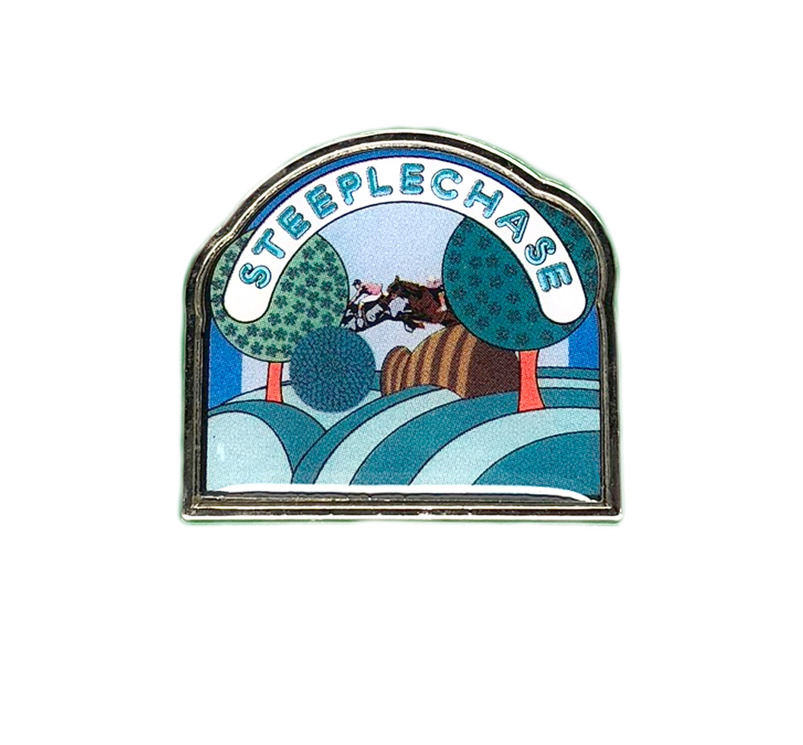 Steeplechase Pin Badge2