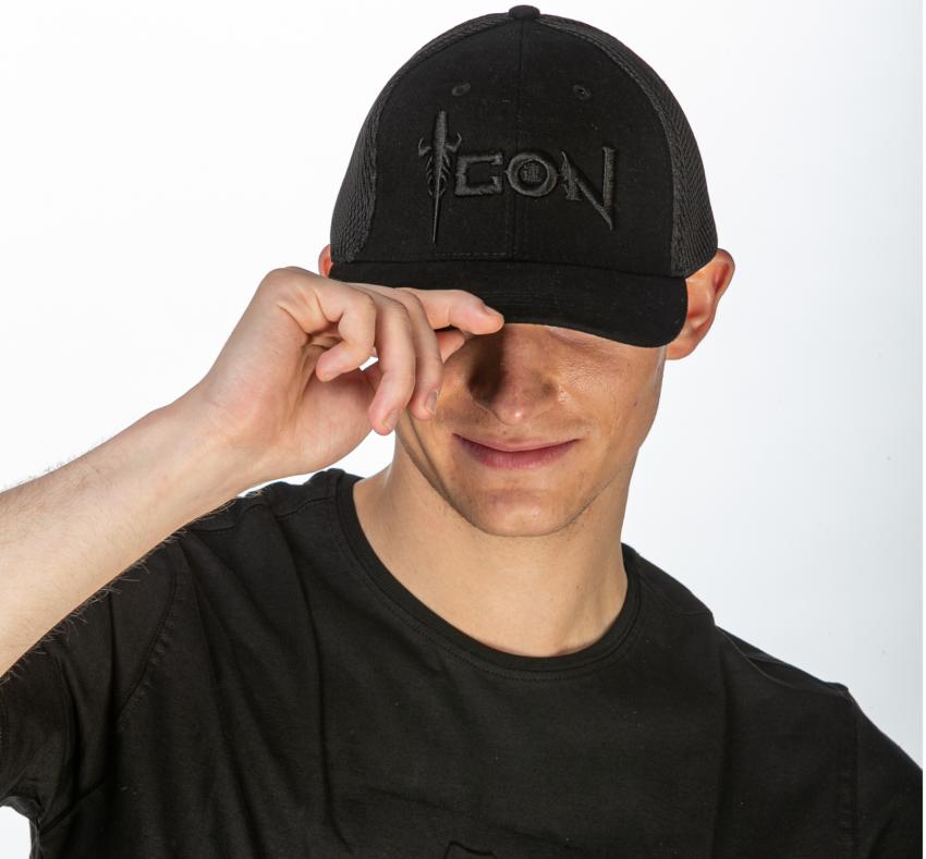 ICON Embossed Black Cap 1