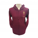 ICON Burgundy Dagger Hoody Profile2