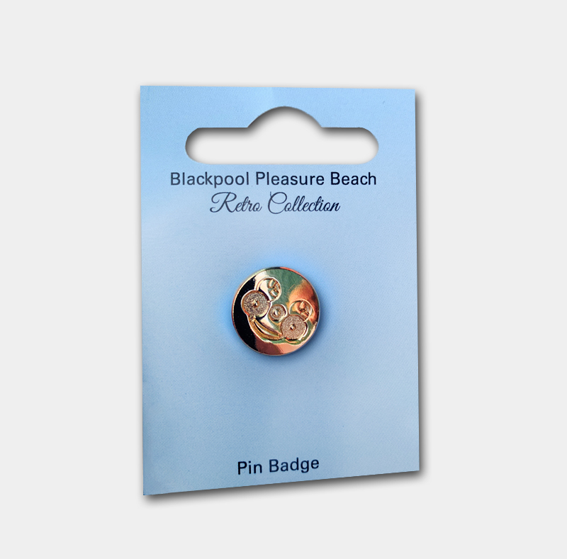Mr Funshine Gold Pin Badge